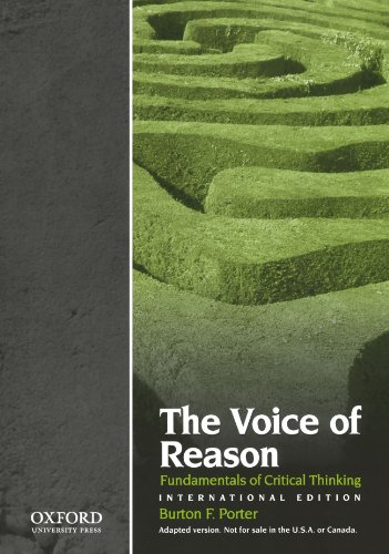 9780195399868: The Voice of Reason: Fundamentals of Critical Thinking, International Edition