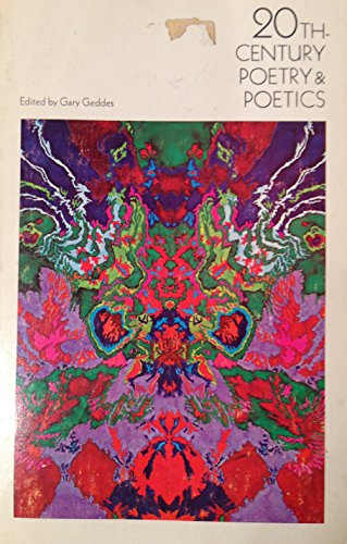 9780195402032: 20th-Century Poetry & Poetics