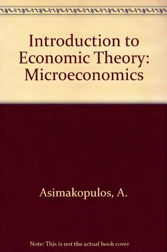 An Introduction to Economic Theory: Microeconomics