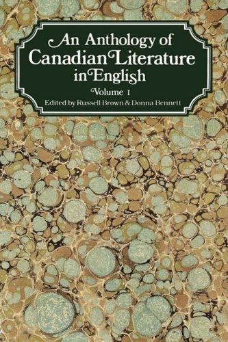 9780195403114: An Anthology of Canadian Literature in English: Volume I