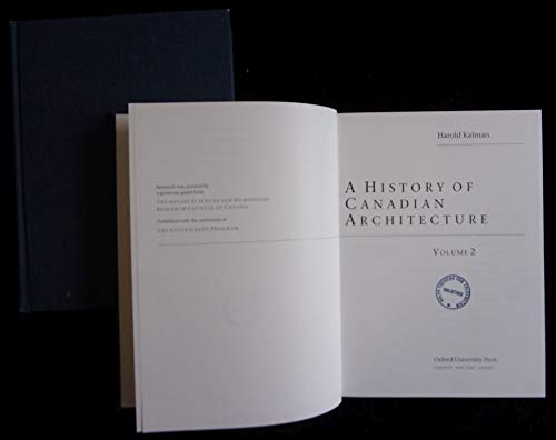 9780195406962: A Concise History of Canadian Architecture