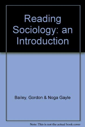 9780195409406: Reading Sociology: an Introduction