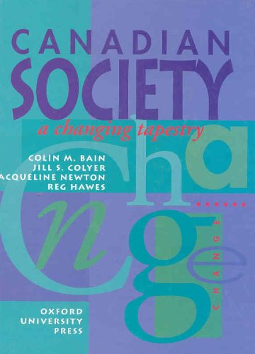9780195409864: Canadian Society: A Changing Tapestry