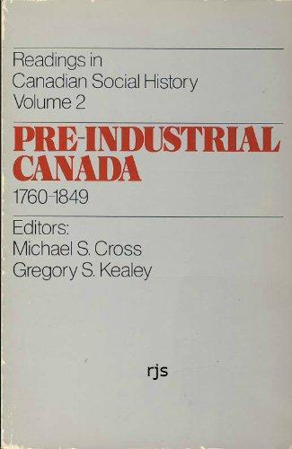 Pre-Industrial Canada, 1760-1849: n/a