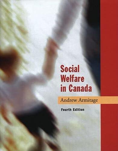 9780195417838: Social Welfare in Canada