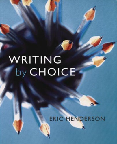 9780195420777: Writing by Choice