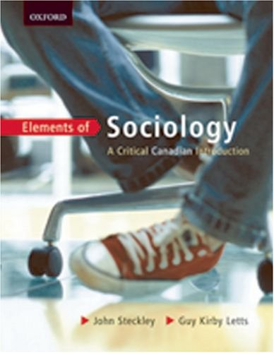 9780195420975: Elements of Sociology: A Critical Canadian Introduction