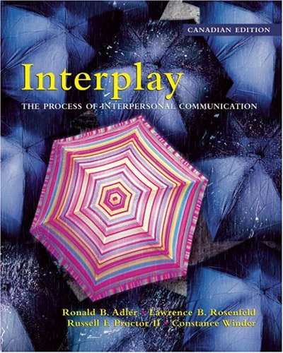9780195421644: InterPlay: The Process of Interpersonal Communication