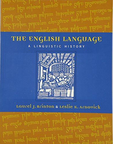 The English Language: A Linguistic History.
