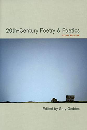 9780195422092: 20th-century Poetry & Poetics