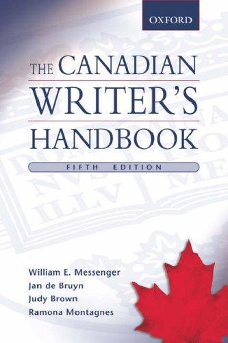 9780195427554: The Canadian Writer's Handbook