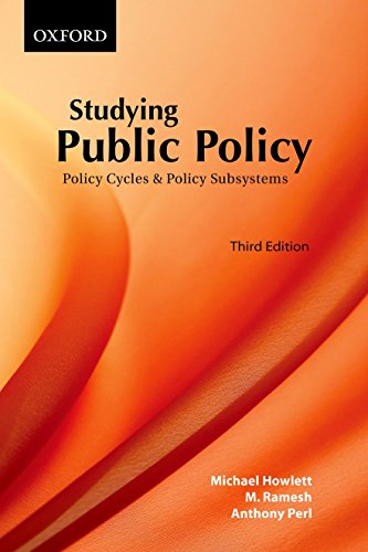 9780195428025: Studying Public Policy: Policy Cycles and Policy Subsystems