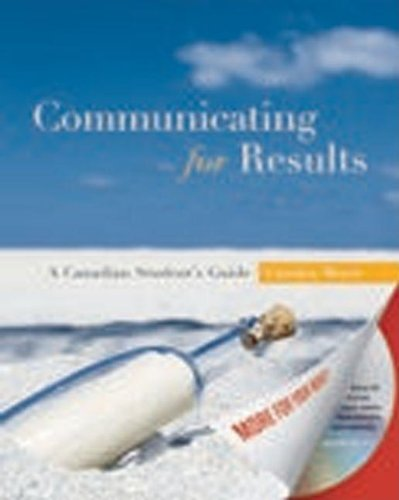9780195428520: Communicating for Results: A Canadian Student's Guide