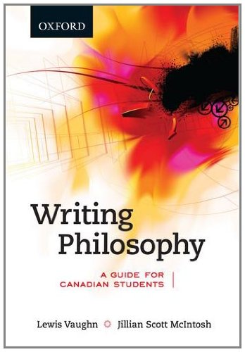 9780195430547: Writing Philosophy: A Guide for Canadian Students, First Canadian Edition