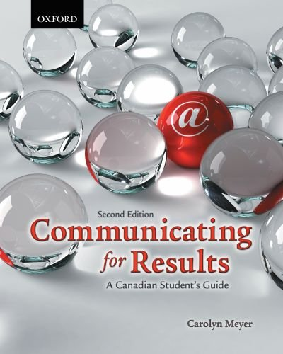 9780195431643: Communicating for Results: A Canadian Student's Guide