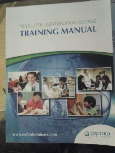 9780195431766: Tesol/tefl Certification Course Training Manual