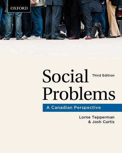 9780195432398: Social Problems: A Canadian Perspective