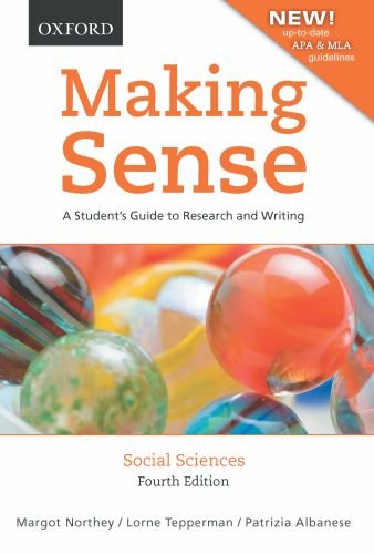 9780195439939: Making Sense in the Social Sciences: A Student's Guide to Research and Writing