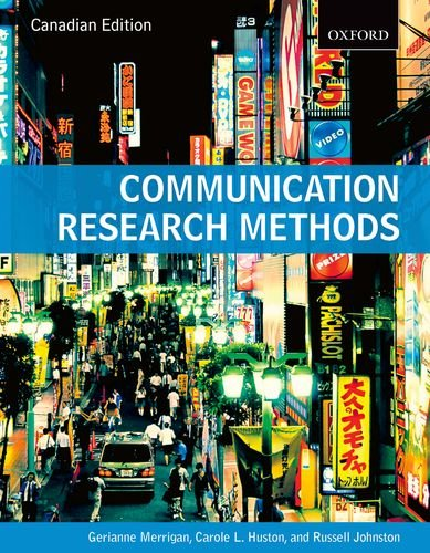 9780195442793: Communication Research Methods Canadian Edition