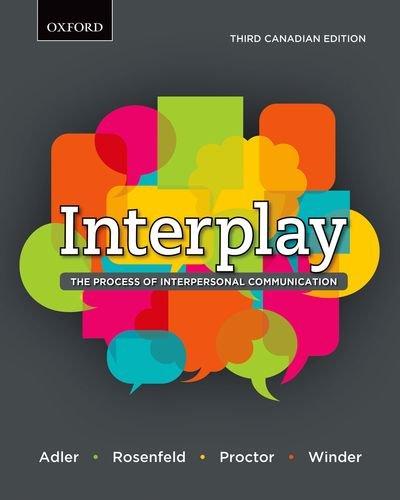 INTERPLAY >CANADIAN<: Adler, Ronald B.; Rosenfeld, Lawrence B.; Proctor II, Russell F.; ...