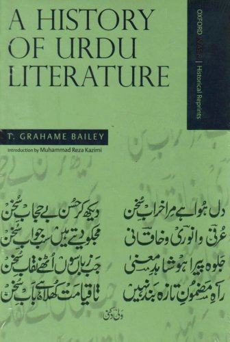 A History of Urdu Literature (Hardback): Bailey, T. Grahame