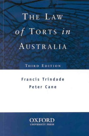 The law of torts in Australia /: Trindade, Francis.