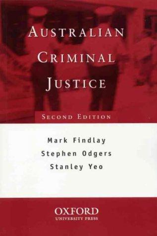 9780195508031: Australian Criminal Justice