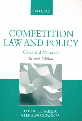 9780195514216: Competition Law and Policy: Cases and Materials