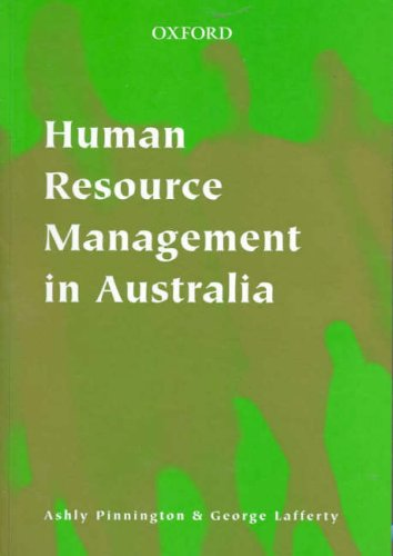 9780195514773: Human Resource Management in Australia: An Introduction