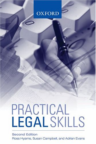 Practical Legal Skills (0195515749) by Hyams, Ross; Campbell, Susan; Evans, Adrian