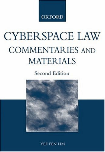 9780195515763: Cyberspace Law: Materials and Commentary
