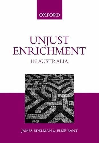 9780195517194: Unjust Enrichment in Australia