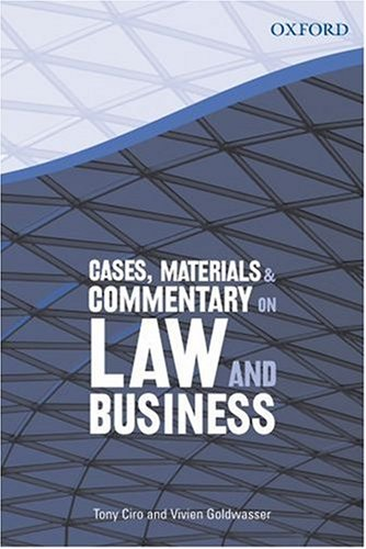 9780195517897: Cases, Materials & Commentary on Law and Business