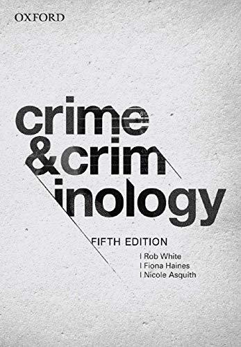 9780195518306: Crime and Criminology 5e