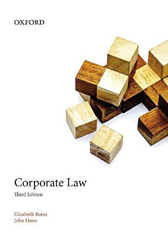 9780195520156: Corporate Law