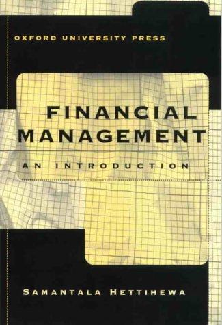 FINANCIAL MANAGEMENT: AN INTRODUCTION.: Hettihewa, Samantala.