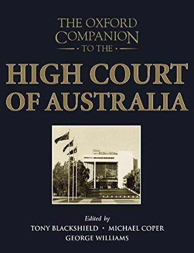 The Oxford Companion to the High Court of Australia.: NEWMAN, J. H.,