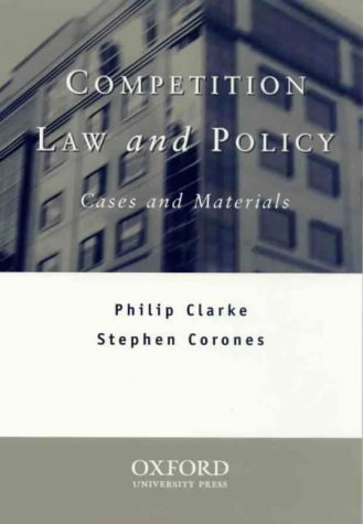 9780195541755: Competition Law and Policy: Cases and Materials