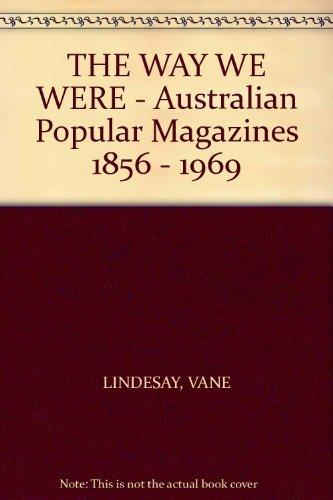 THE WAY WE WERE - Australian Popular: LINDESAY, VANE