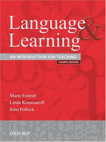 9780195551259: Language and Learning: An Introduction for Teaching