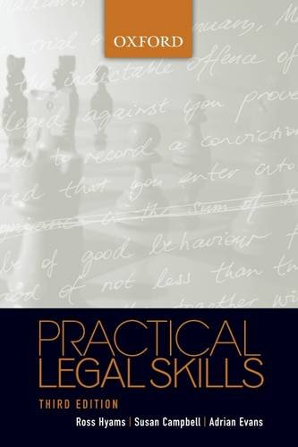Practical Legal Skills (9780195551372) by Ross Hyams; Susan Campbell; Adrian Evans