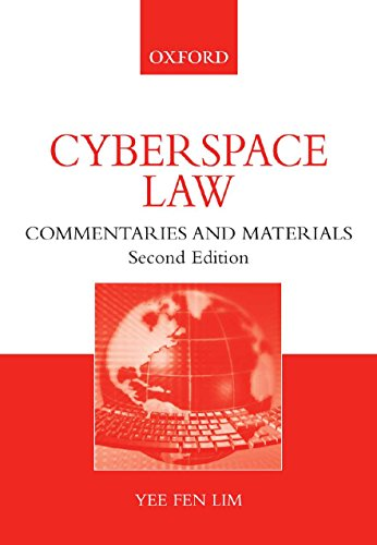 9780195558616: Cyberspace Law: Commentaries and Materials