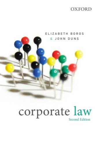 9780195568028: Corporate Law