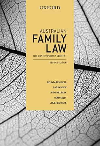 9780195574333: Australian Family Law: The Contemporary Context