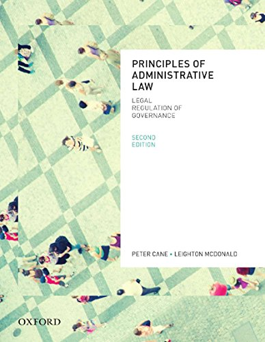 9780195576092: Principles of Administrative Law, Second Edition
