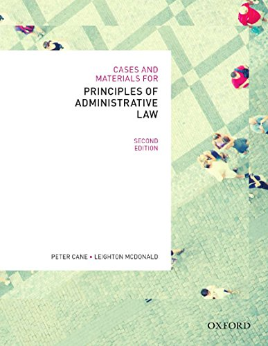 9780195576115: Cases & Materials for Principles of Administrative Law