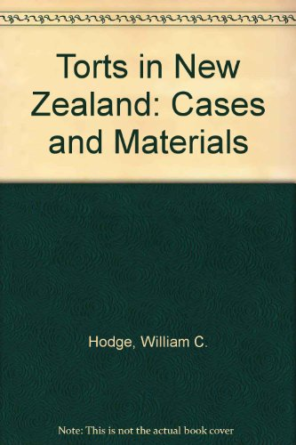9780195581812: Torts in New Zealand: Cases and Materials