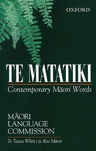 Te Matatiki: Contemporary Maori Words: Commission, Maori Language