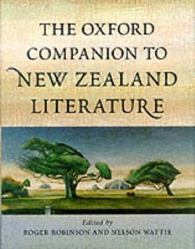 The Oxford Companion To New Zealand Literature