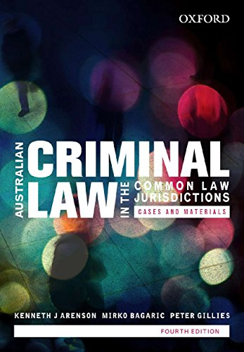 9780195588736: Australian Criminal Law in the Common Law Jurisdictions: Cases and Materials
